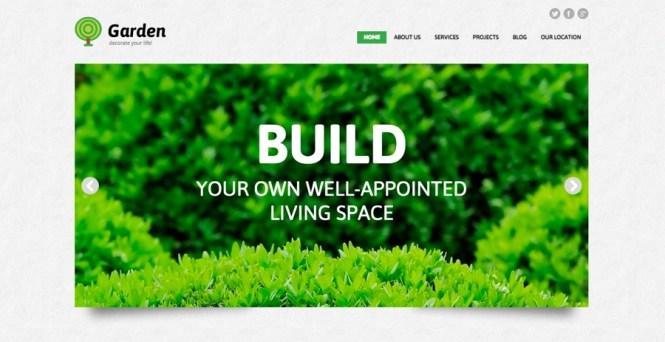 Thème WordPress adaptatif pour conception de jardin