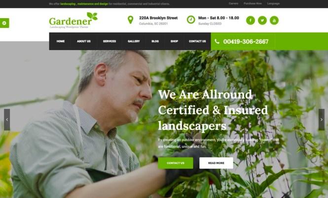 Thème WordPress pour jardinier