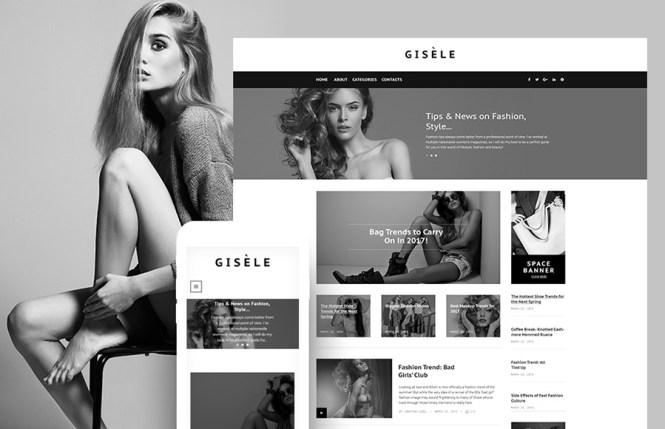 Thème WordPress pour le blog Gisele Fashion & Lifestyle
