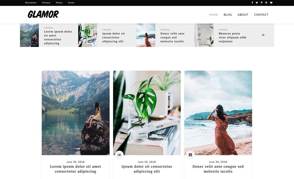 A Multi-Purpose Glam Blog Theme