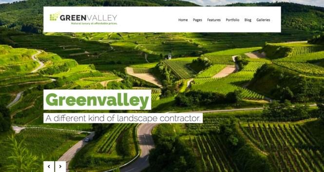 Thème WordPress de la vallée verte