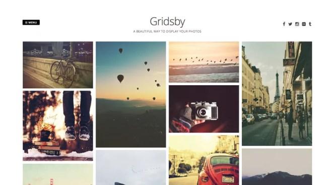 Thème WordPress gratuit Gridsby