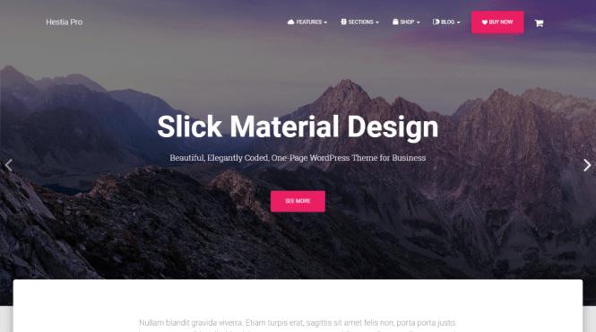 Thème WordPress pour Hestia Pro Material Design
