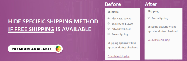 Hide Shipping Method for WooCommerce