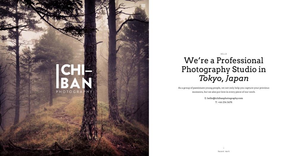 Ichiban Элегантная фотография WordPress Theme