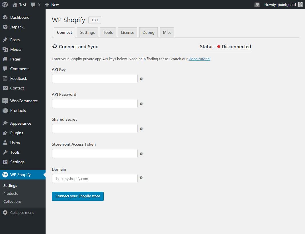 интегрировать плагин wp shopify с shopify