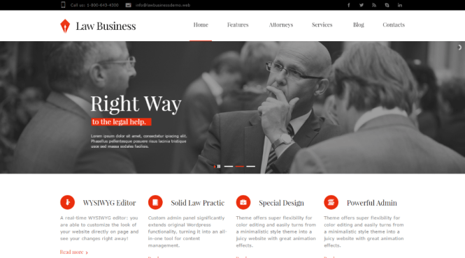 LawBusiness Thème WordPress