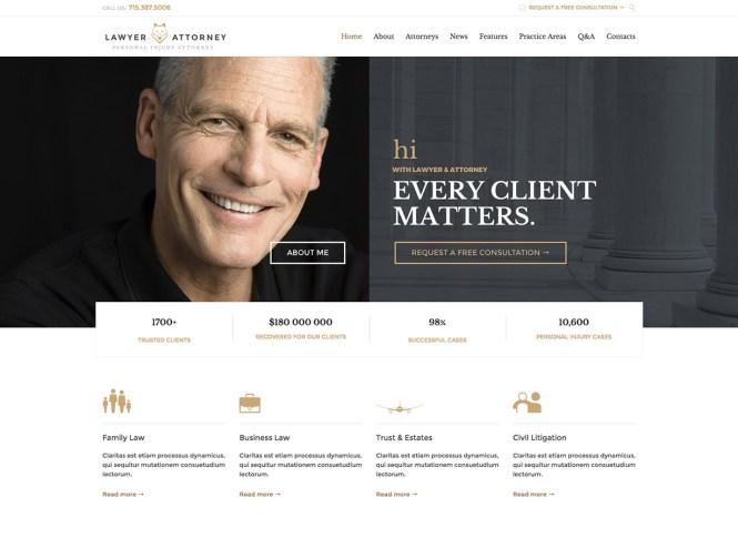 Thème WordPress professionnel avocat et avocat