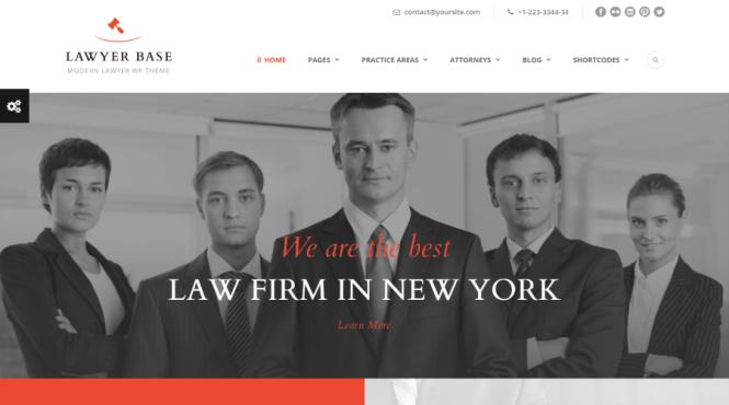 Thème WordPress Base de l'avocat