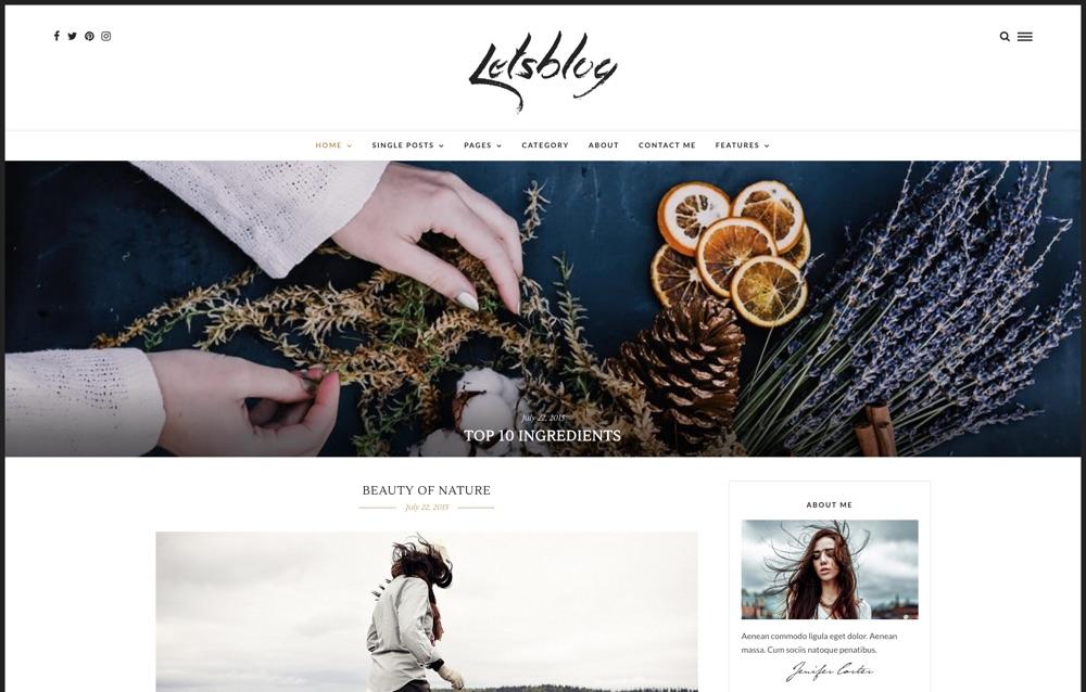Let's Blog WordPress Theme