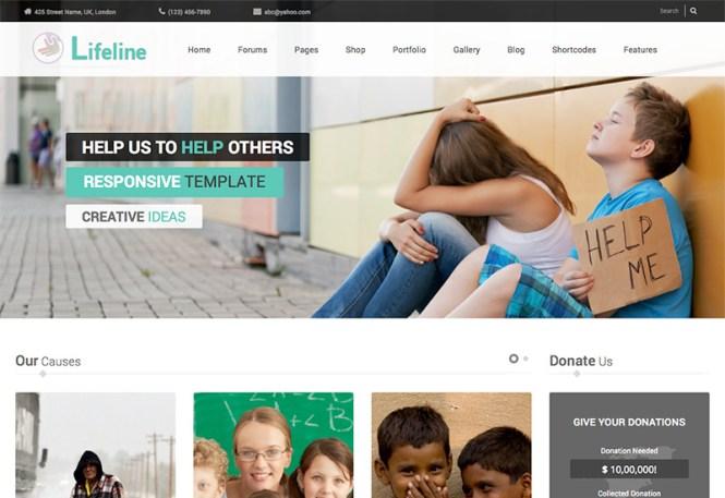 ligne de vie-collecte de fonds-charité-wordpress-thème