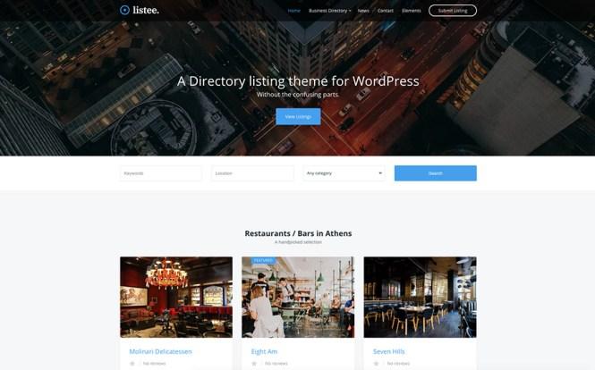 Thème WordPress pour la liste des répertoires listés