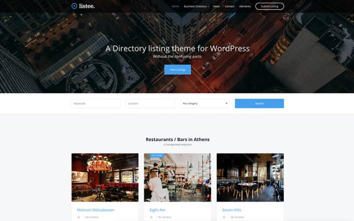 Listee Directory Listando Tema de WordPress