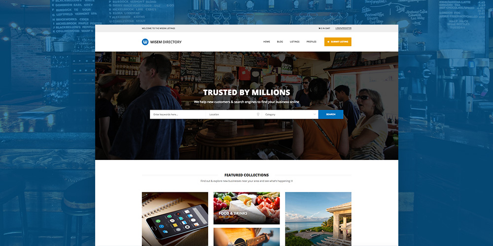 Wisem Локальный каталог WordPress Theme