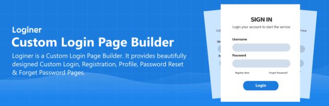 Loginer - Générateur de page de connexion personnalisée