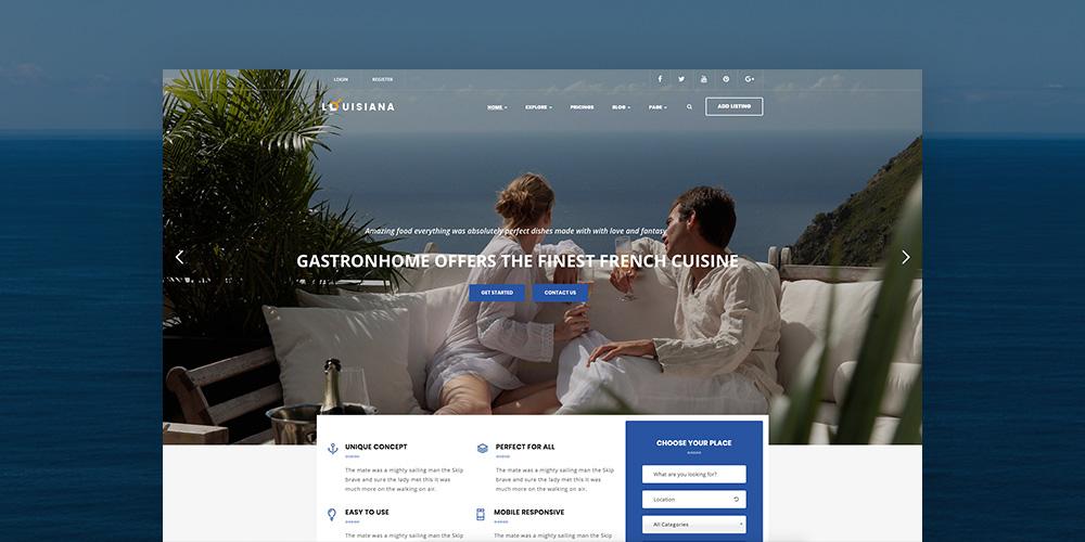 Луизиана Адаптивный Листинг Каталог WordPress Theme