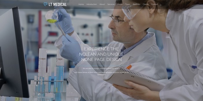 Tema de WordPress de LT Medical Onepage