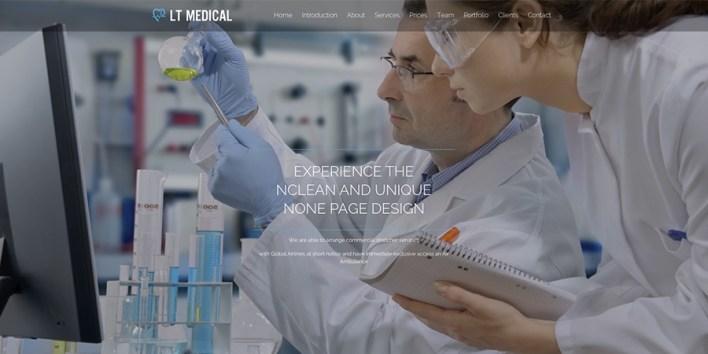 Tema de WordPress de LT Medical Onepage