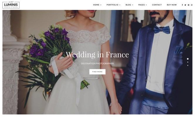 Luminis Wedding Photography Thème WordPress