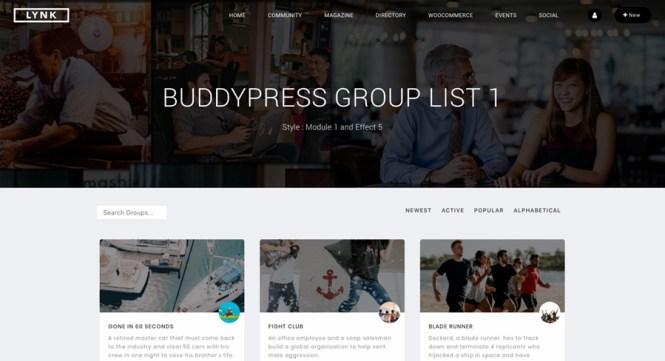 Thème WordPress pour réseaux sociaux et communauté Lynk