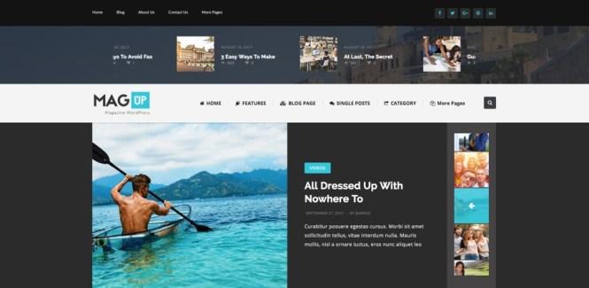 Thème WordPress de magazine MagUp Modern Styled