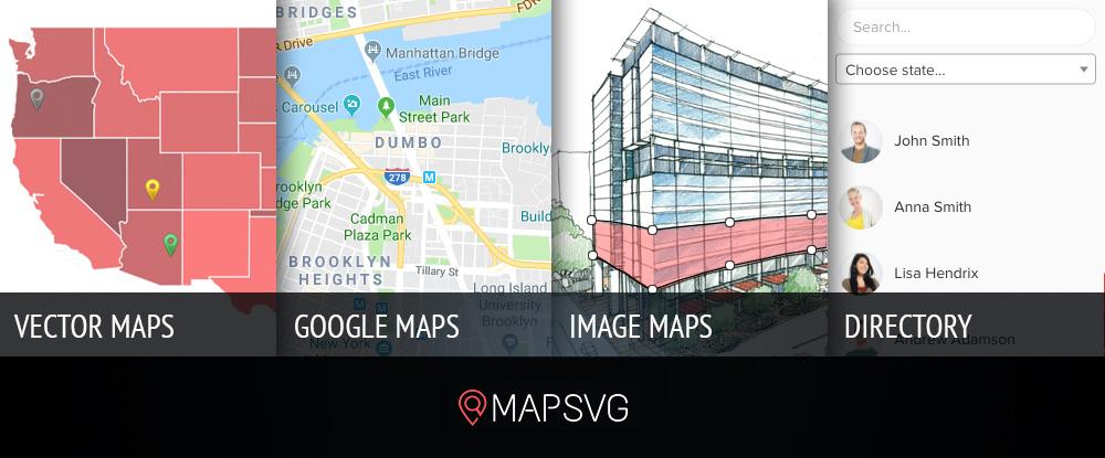 Лучшие картографические плагины: MapSVG
