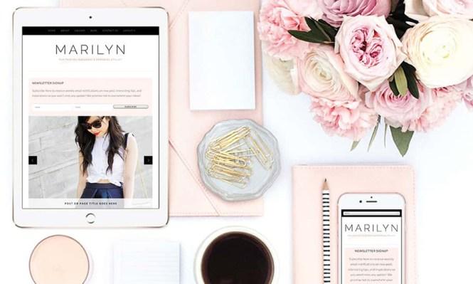 Thème Marilyn Fashion Blogger