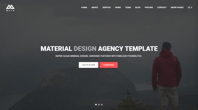 Thème Matx Agency Design Agency