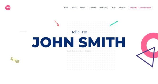 Me Creative Portfolio & Resume WordPress Theme