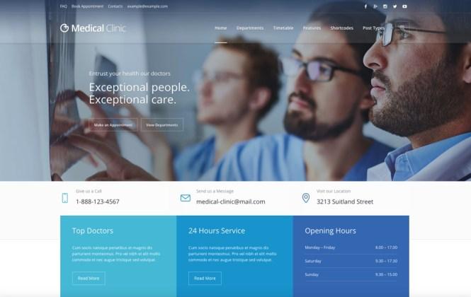 Medical Clinic - Thème WordPress Thème Santé et Médecin