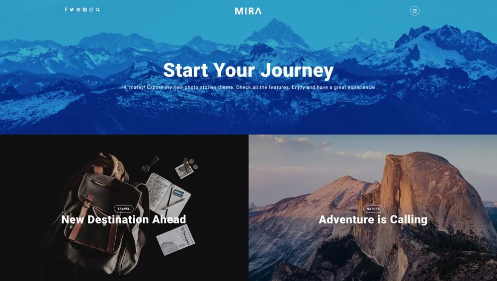 Mira Photo Stories Блог WordPress Тема