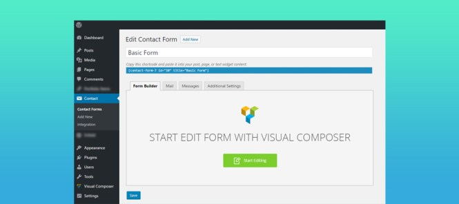 Module d'extension Moana Contact Form 7 Builder Premium