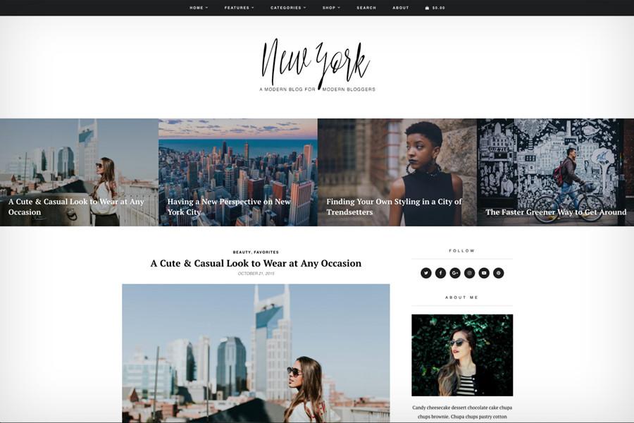 New York WordPress Blog & Shop Theme