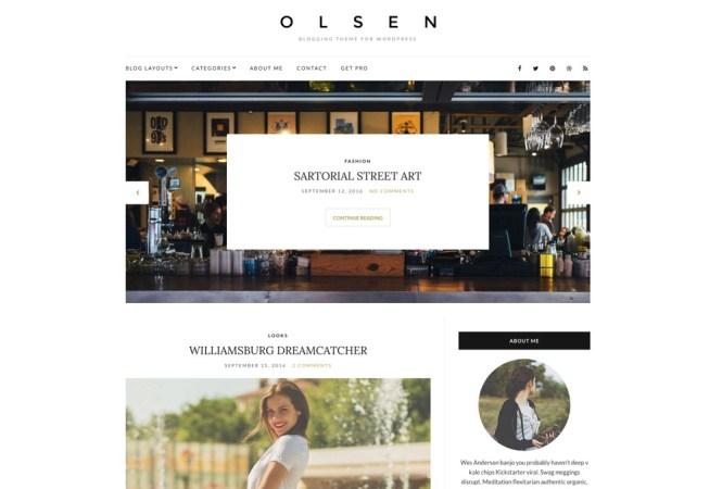 Thème WordPress pour blog gratuit Olsen Light