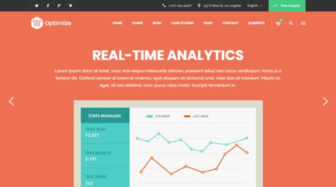 Optimiser - Thème WordPress pour le marketing numérique