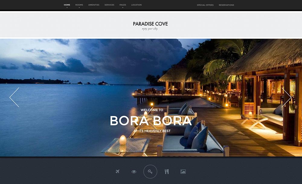 Paradise Cove Hotel WordPress Theme