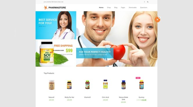 DW PharmaStore - Thème WP eCommerce