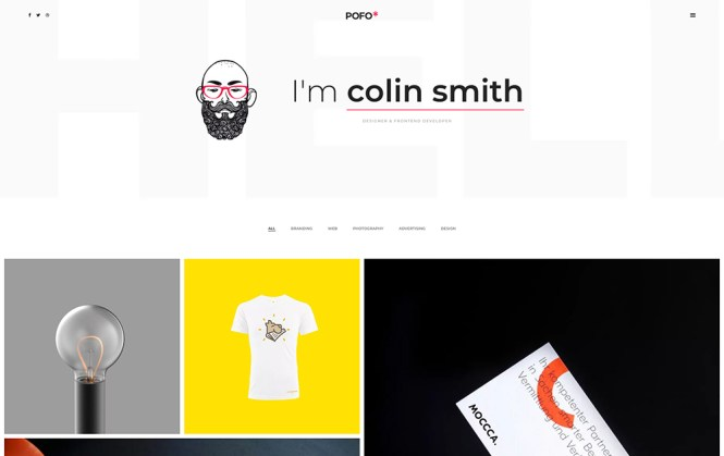 Pofo - Portfolio créatif & Blog Premium Thème WordPress