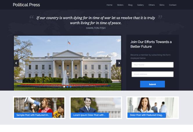 Politicalpress-charité-wordpress-thème