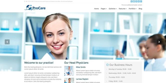 Procare - Thème WordPress médical