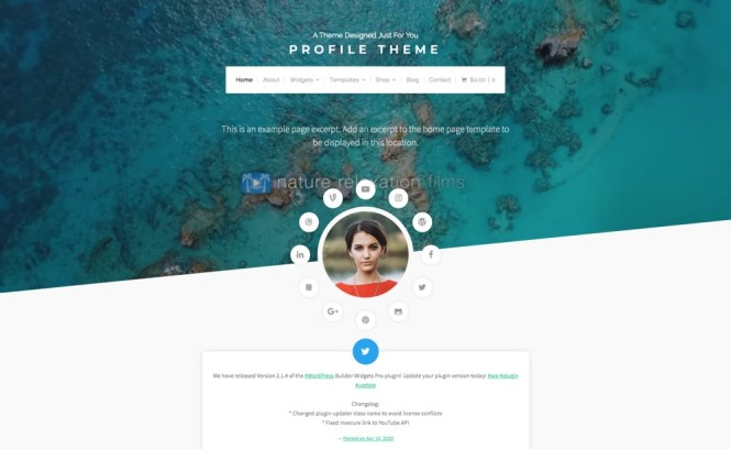 Profil Thème WordPress Portfolio personnel