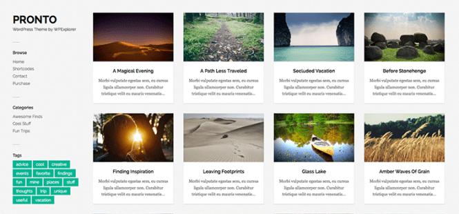 Thème WordPress de la galerie de maçonnerie gratuite Pronto