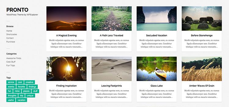 Пронто Бесплатная Галерея Масонства WordPress Theme
