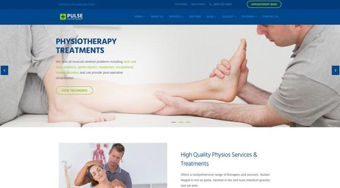 Thème WP médical de physiothérapie du pouls