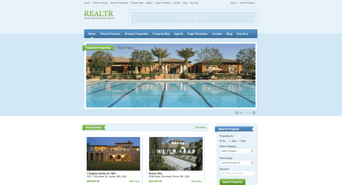 realtr-templatic-real-estate-wordpress-theme