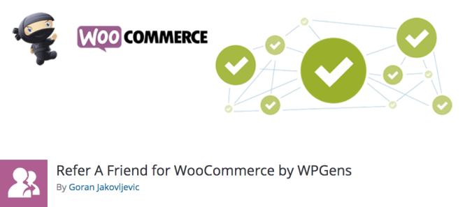 Meilleurs plugins WordPress affiliés: parrainer un ami pour WooCommerce par WPGens