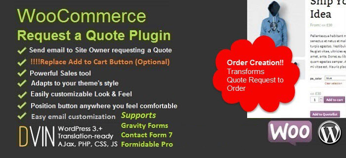 Solicitud de un complemento QuoteUp Premium para WooCommerce
