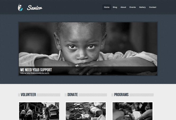 sauveur-charité-wordpress-thème