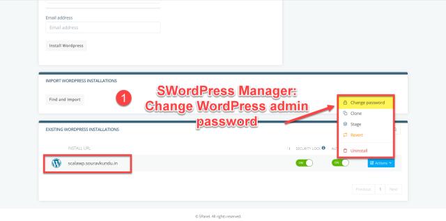 scala swordpress manager options - change wordpress admin password 1