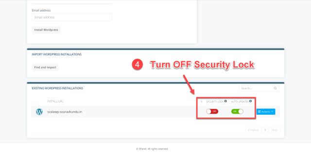 scala swordpress manager options - security lock 4